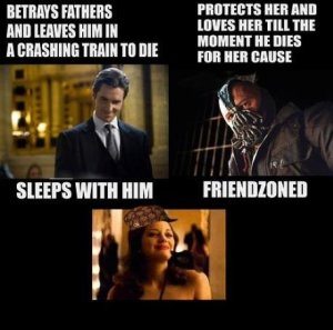 Bane was in the ultimate friend zone