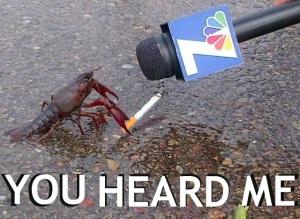 Token crab smoking a cig pic.