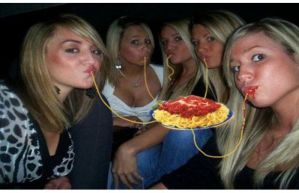 Duck Face = Invisible Spaghetti